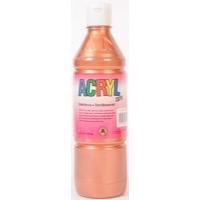 Acryl Metallic 500ml kobber